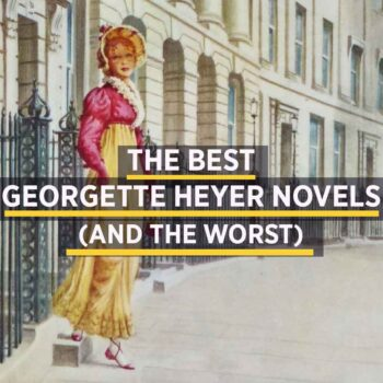 Illustration of regency woman for article on the best Georgette Heyer books