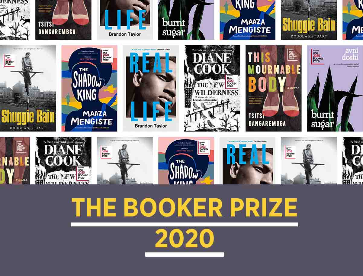 2020 booker prize covers montage with headline