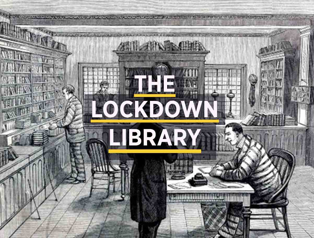 illustration of Sing Sing prison library to illustration book recommendations for lockdown