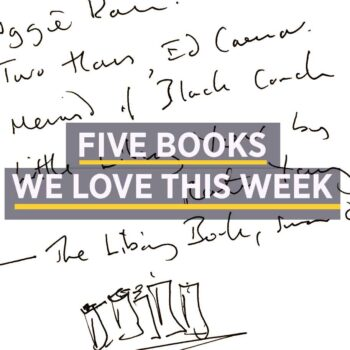 handwritten notes on five books picked for article
