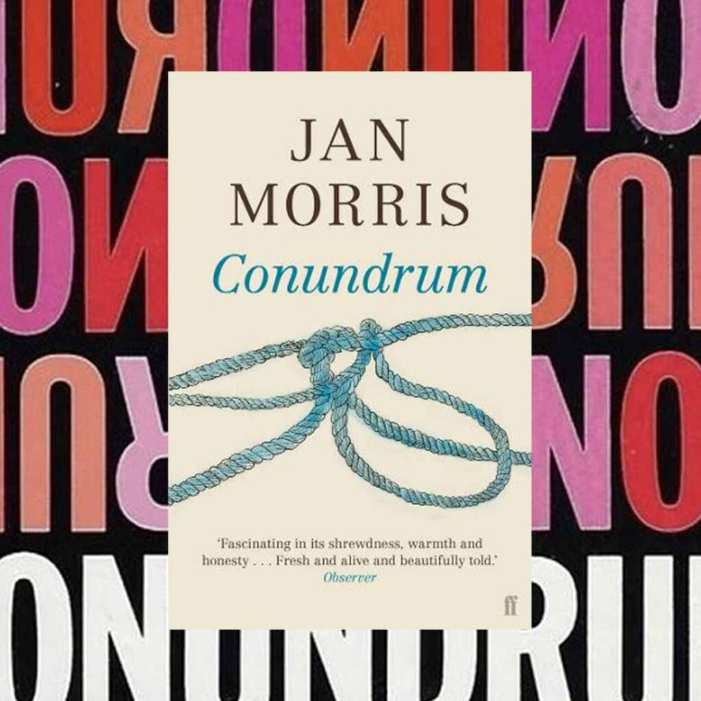 Book cover for Conundrum by Jan Morris for reading inspiration list