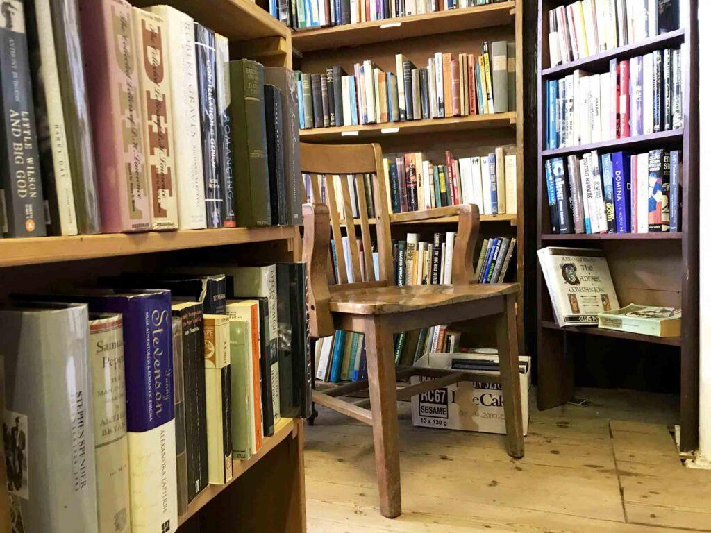 Chapel books Westleton interior