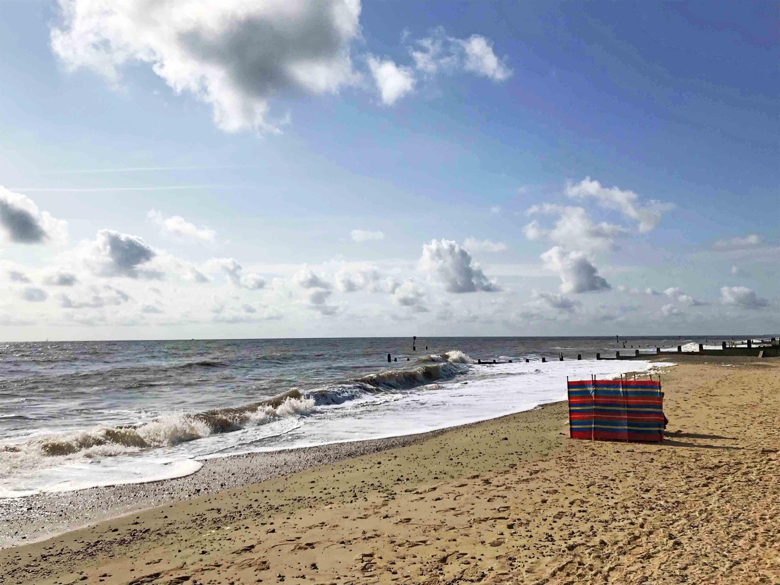 Southwold Beach windbreak