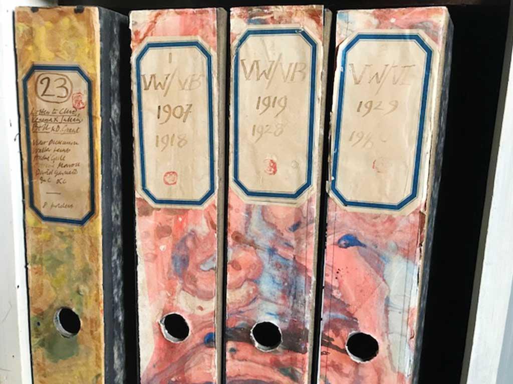 box files of correspondence Charleston