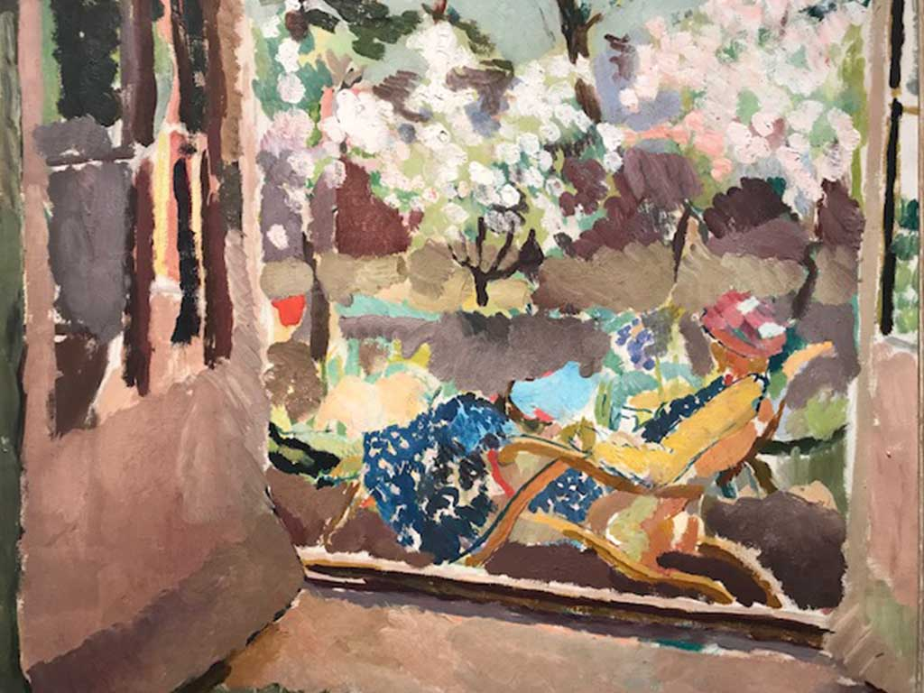 Vanessa Bell in painting by Duncan Grant